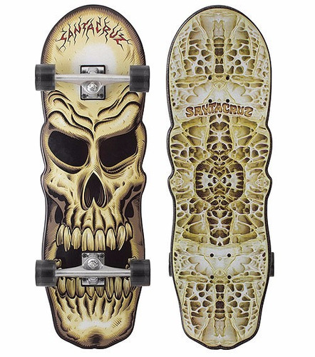 skate santa cruz phillips skull cruzer longboard review