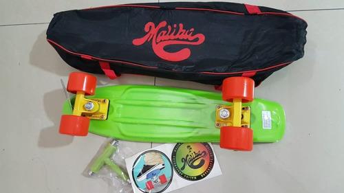 skateboard penny 22 pulg. marca malibu+mochila+llave lima
