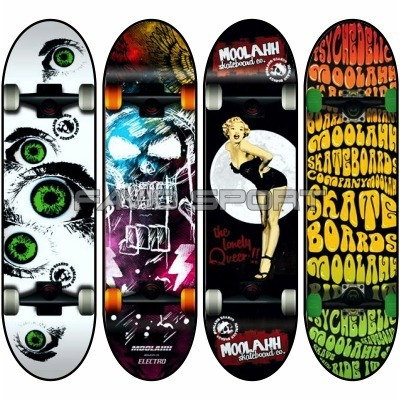 skates & longboards moolahh - línea doble cola maple 7 capas