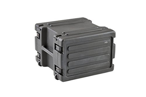 skb 8u space rack con ruedas en línea, cierres tsa y mango,
