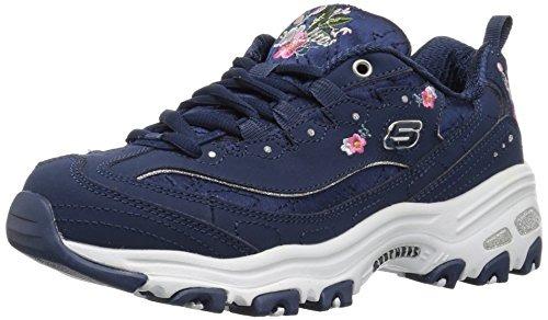 Skechers D'lites Bright Blossoms Sneaker Para Mujer, Azul