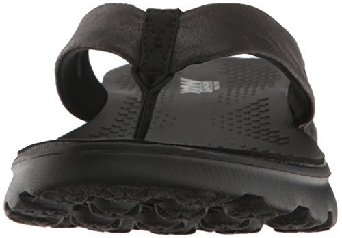 skechers performance on the go 400 essence flip flop, negro
