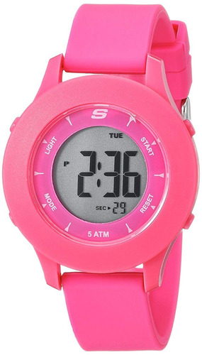skechers - reloj sr6143 quartz plastic and rubber casual paa