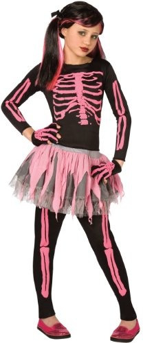 skeleton punk pink child 12-14 articulo de vestuario