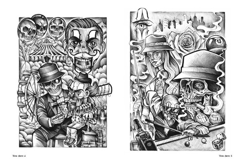 sketchbook tattoo tom arte - cultura chicana neotradicional