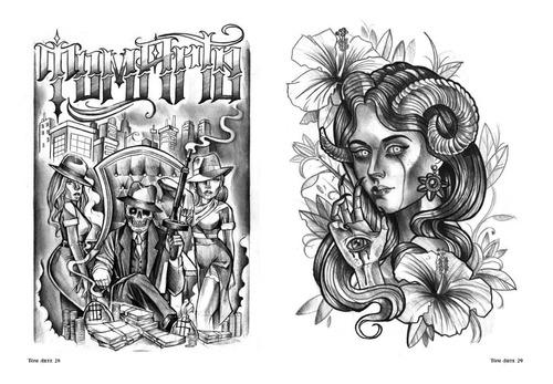 sketchbook tattoo tom arte - cultura chicana neotradicional
