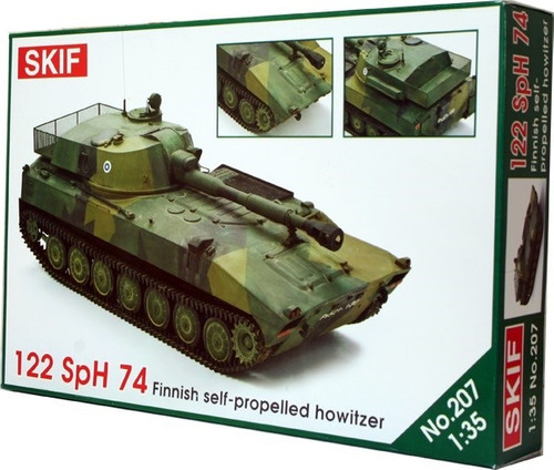 skif 207 - finnish self-propelled howitzer 122 sph 74 - 1/35
