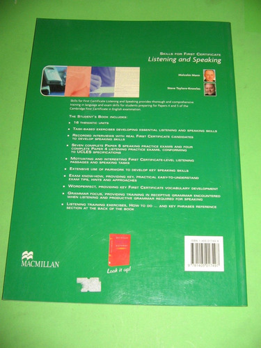 skills for fc: listening and speaking macmillan $ 850 nuevo