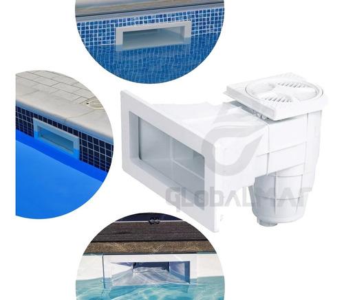 skimmer para piscinas de alvenaria fibra e vinil boca larga