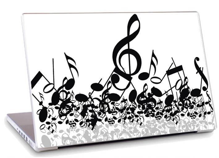Artesanato Jornais ~ Skin Adesivo Notebook Papel Parede Nota Musical Skdi2996 R$ 19,89 em Mercado Livre