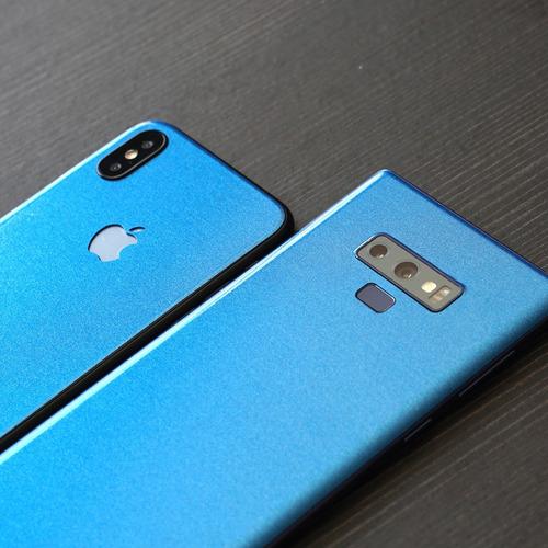 skin azul metalico apple samsung huawei lg sony xiaomi etc