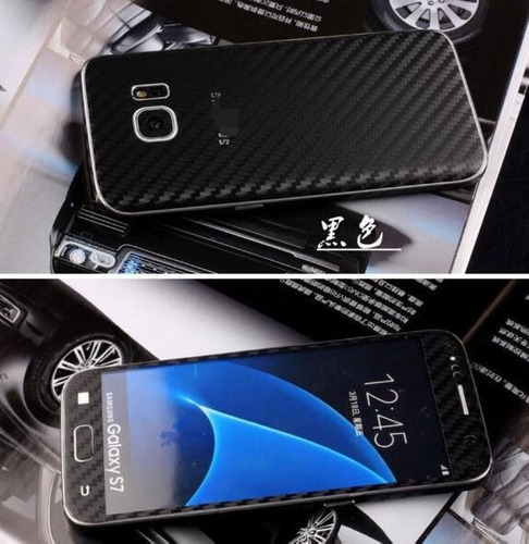 skin case sticker fibra de carbono samsung s6 edge y s7 edge