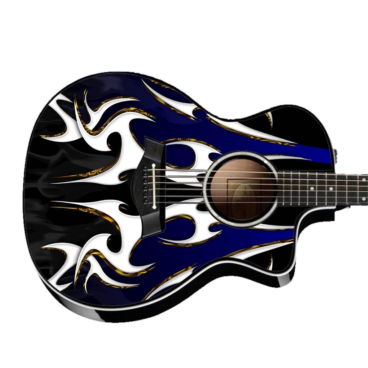 Skin Cgw Creativelab Tribal Flame 2 Adesivo Guitarra Violao R