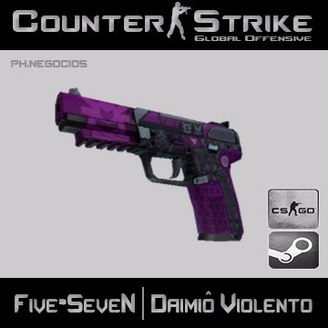 skin cs go five-seven | daimiô violento
