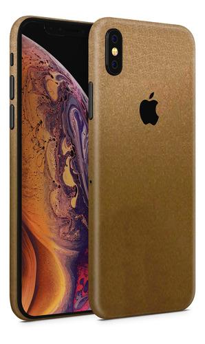 skin dorado metalico para telefonos apple iphone