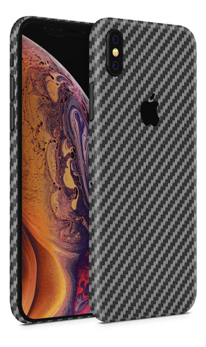 skin fibra carbono negro para telefonos apple iphone