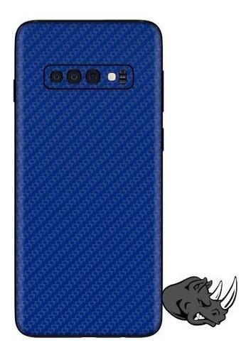 skin fibra de carbono para samsung s10 plus - rhino skinz