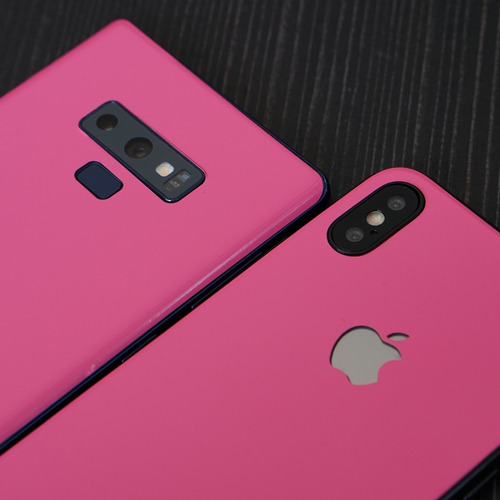 skin hot pink para apple samsung huawei lg sony xiaomi etc