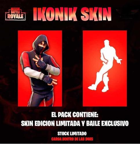 skin ikonik + emote fortnite, precio tratable