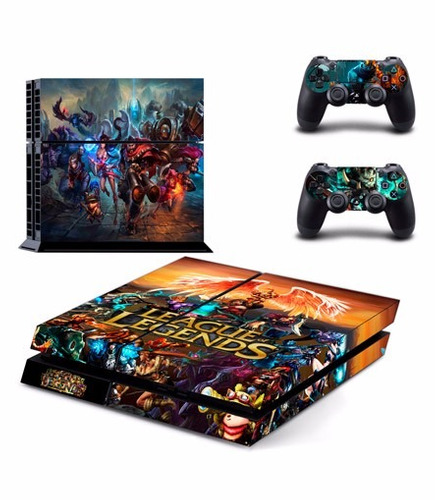 skin league of legends ps4 consola+2 controles personalizado