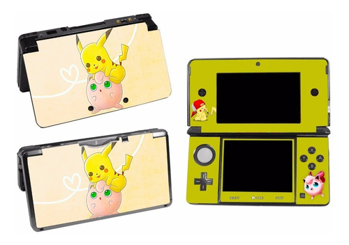 skin nintendo 3ds pokemon pikachu personalizado