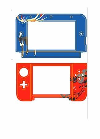 skin nintendo 3ds xl pokemon xernias yveltal personalizado