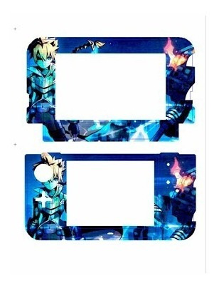 skin nintendo new 3ds xl  azure striker gunvolt