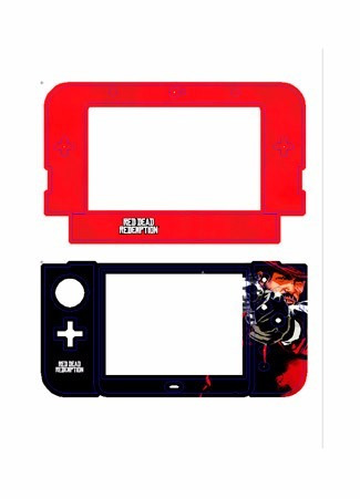skin nintendo new 3ds xl red read redemption