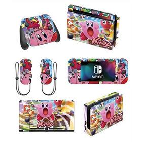 Skin Nintendo Switch Kirby (22) Consola+dock+controles