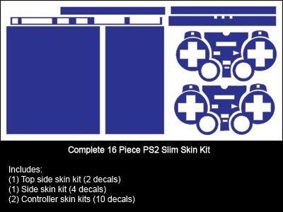 skin para sony playstation 2 slim (ps2 slim) - nuevo - sist