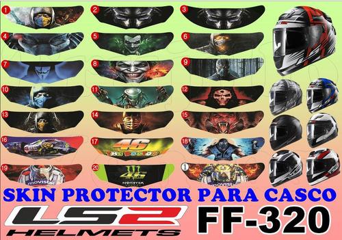 skin para visor ls2 ff-320 stream omega r15 fz pulsar ns @tv
