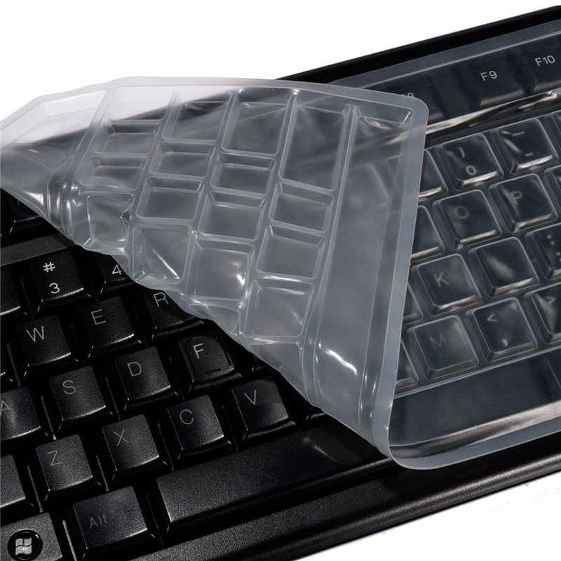 Skin protector silicone teclado universal computadora pc - Cubre escritorio ...