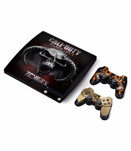 skin ps3 slim call of duty (1) consola+2 skins controles