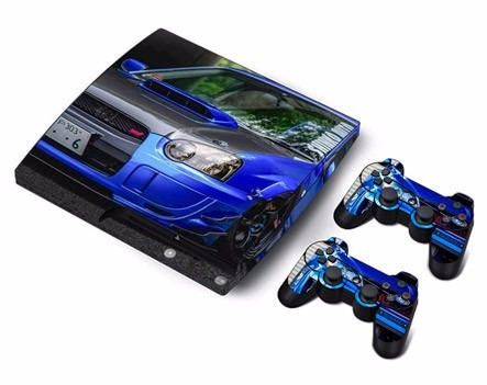 skin ps3 slim nissan consola+2 skins controles