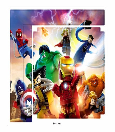 skin ps3 super slim avengers lego consola+2 skins controles