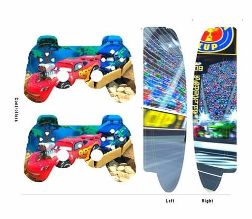 skin ps3 super slim cars (1) consola+2 skins controles