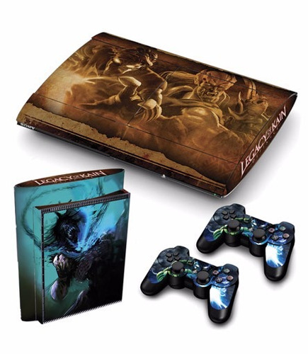 skin ps3 super slim legacy of kane consola+2 skins controles