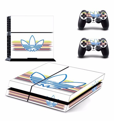 skin ps4 adidas (2) consola+2 skins controles