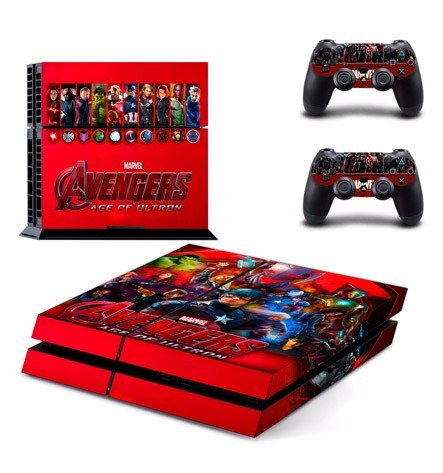 skin ps4 avengers (1) consola+2 skins controles