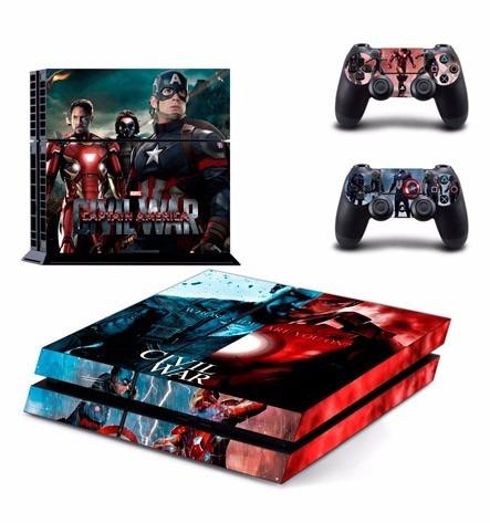 skin ps4 civil war consola+2 skins controles personalizado