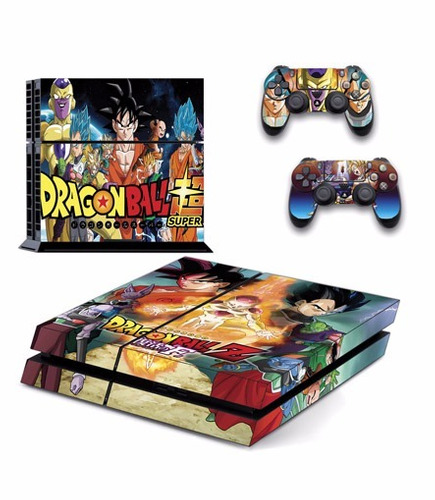 skin ps4 dragon ball (135) consola+2 skins controles