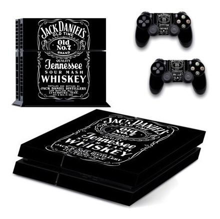 skin ps4 fat jack daniels (166) consola+2 skins controles