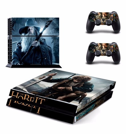 skin ps4 hobbit (129) consola+2 skins controles