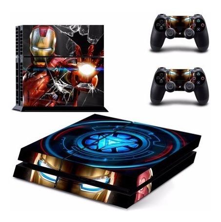skin ps4 iron man consola+2 skins controles personalizados