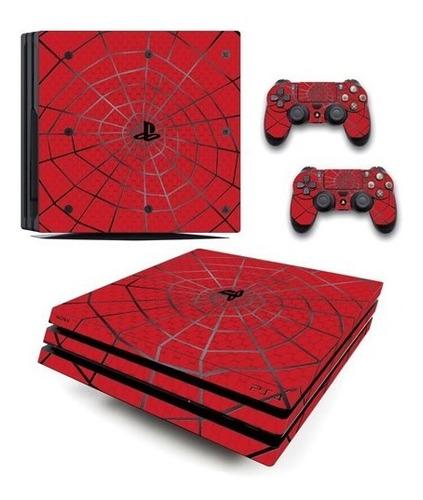 skin ps4 pro spiderman (6) consola+2 skins controles