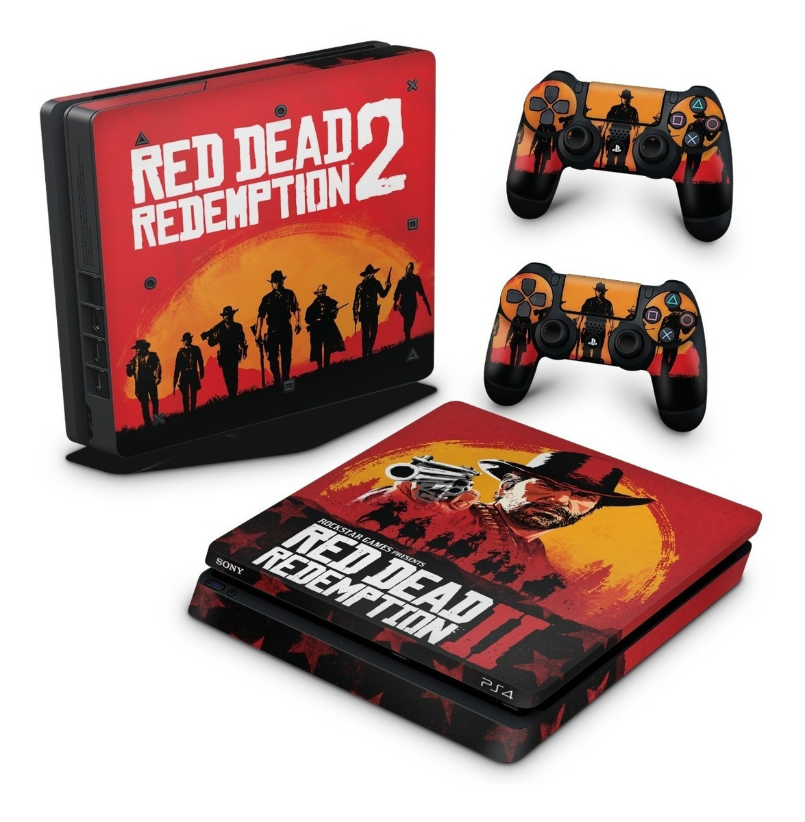 Skin Ps4 Slim Adesivo Playstation 4 Red Dead Redemption 2