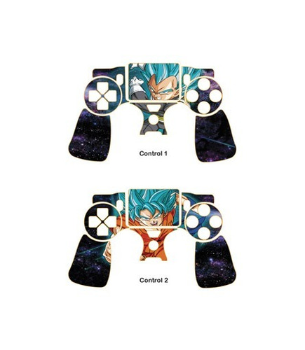 skin ps4 slim dragon ball (377) consola+2 skins controles