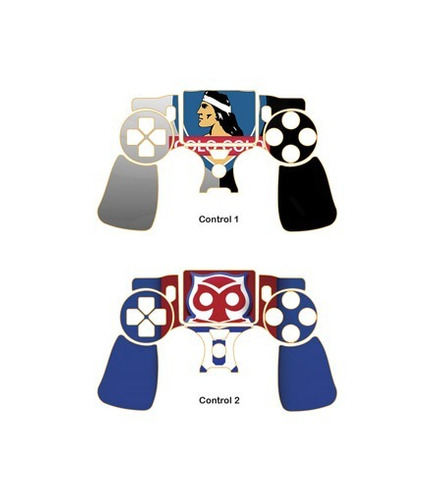 skin ps4 slim football (382) consola+2 skins controles