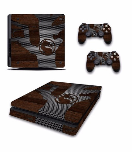 skin ps4 slim mortal kombat consola+2 skins controles person
