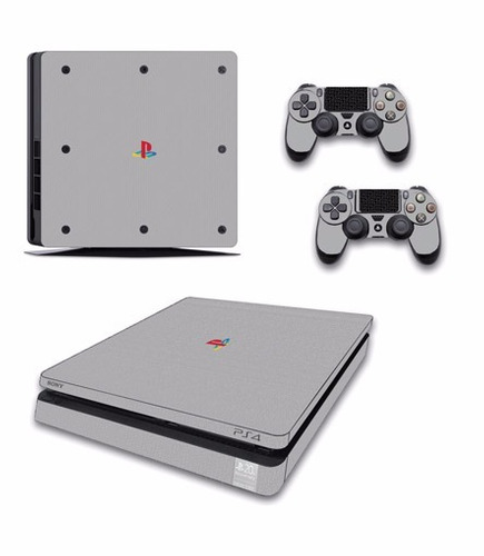 skin ps4 slim ps4 (1) consola+2 skins controles
